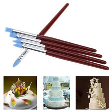 5 Pcs/Set Decorating Brush Fondant Shaping Pen Food Cupcake Sugarcraft Tool New