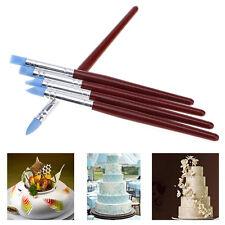 5 Pcs/Set Decorating Brush Fondant Shaping Pen Food Cupcake Sugarcraft Tool New