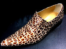 CHELSY Zapatos Italiano Diseñador Mocasines hecho a Mano leopardos