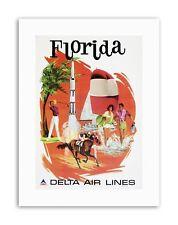 FLORIDA DELTA AIRLINE APOLLO FUN VACATION HOLIDAY Travel Canvas art Prints