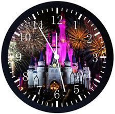 Disney Castle Black Frame Wall Clock E144