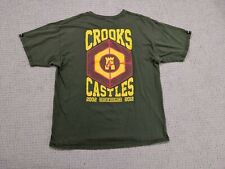 Crooks And Castles Shirt Mens XL Extra Large Green Yellow Target Decade Street