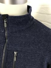 ExOfficio Mens Khave Thermal 1/4 Zip Pullover Poly Wool Blend Blue Size 2XL