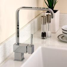 Cosmo Chrome Single Lever Swivel Spout Kitchen Sink Mixer Tap 5E