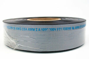 Flat Ribbon Cable Grey 50-Conductor 28 AWG Belden 2L28050 008H100 - 100ft (1pk)