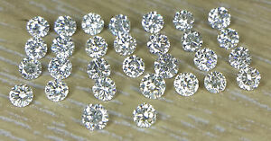 1-1.1mm 30pc Natural Loose Brilliant Cut Diamond Lot I Clarity I-J Color Round