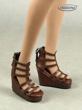 1/6 Phicen, TB League, Hot Toys, NT Female Dark Brown Gladiator Wedge Heel Shoes