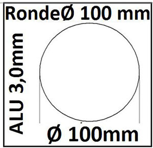 ALU Ronde Ø25-120x3mm 0Loch 1527 Alu Scheibe AR25-120/0/3,0 mm taurusShop24_de