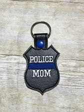 Police Mom Police Officer police badge Key chain FREE SHIPPING