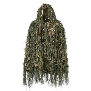 Hunting Ghillie Suit Sniper Camo Camouflage Yowie Army Military 3D Real Tree