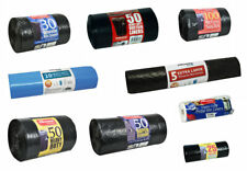 More details for heavy duty black refuse sacks strong thick recycle rubbish bags pedal bin liners