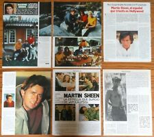 Martin Sheen spain clippings 1970s/80s magazine articles Apocalypse Now actor