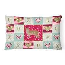 """""""Caroline's Treasures Cat Love Canvas Fabric Decorative Pillow Patio-Furnitur."""