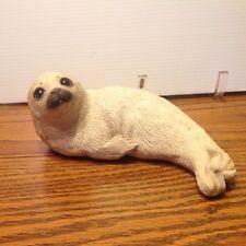 Vtg. White Harp Seal Sandi Cast 1981 signed by Artist Sandra Brue