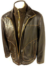 Columbia Creepster Mens Brown PVC Dual Front Zip Large Jacket Coat