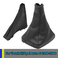 Pu Leather Handbrake Gear Stick Boot Gaiter Cover For Vauxhall Astra G 98-04