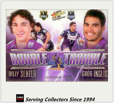 2009 Select NRL Champions Double Trouble Acetate Card DT1 Slater/Inglis-Rare