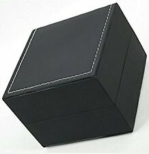 Single Leather Watch Box Jewellery Bracelets Case Gift Box Black Cushion
