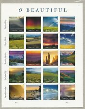 2018 #5298 O Beautiful Pane of 20 Forever Stamps Mint