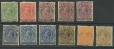 Falkland Islands 1921-28. Stamps in range SG73-79 (SG77 short perf) hinged Mint