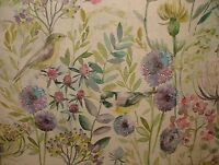 Voyage Decoration Morning Chorus Birds Floral Curtain Upholstery Linen Fabric