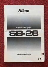 Nikon enfoque automático-Flash sb-28 - bedienanleitung