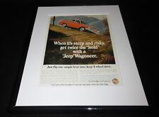 1966 Jeep Wagoneer 11x14 Framed ORIGINAL Advertisement