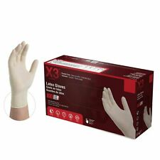 1000/cs LX3 3 Mil Ivory Latex Gloves Powder Free (Non Nitrile Vinyl)