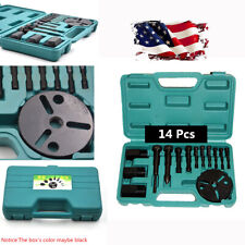 US Stock 14Pcs Car R134a AC Compressor Clutch Sucker Puller Kit with Box New Set