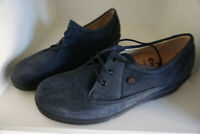 FINN COMFORT Ancona Damen Schuhe Schnürschuhe Gr.8 / 42 Nubuk Leder marine NEU