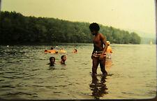 Vtg 35mm 1978 American Life Black African American Boy Swimming beach 2