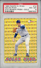 1993 Pacific 27th Season Prism Gold #12 Nolan Ryan New York Mets HOF PSA 8