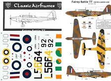 CLASSIC AIRFRAMES DECALC /STIKERS FAIREY BATTLE TT 1/48