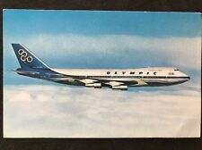 Vintage Postcard: Real Photo: Aeronautics: #A9 Olympic Airways Boeing 747-200 B