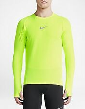 Nike Men's Aeroreact Pro Running Knit Shirt - Volt - (683910 702) - $100 - L