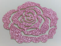 ROSE rose Glitter 7 cm Patch thermocollant hotfix custom