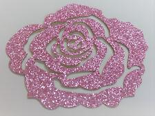 ROSE rose Glitter 7 cm Patch thermocollant hotfix custom