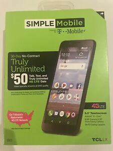 SIMPLE MOBILE T-MOBILE 4G LTE TCL LX NO CONTRACT PHONE WOW!!