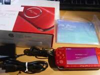 Sony Playstation Portable PSP-3000 Radiant Red Works Boxed