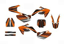 CRF 150R graphics decal kit for Honda Dirt Bike 2007 - 2015 #3333 Orange