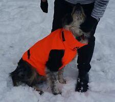 Medium Dog Safety  Orange Vest Good Quality Zip Up Back Low Price