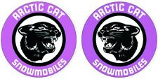 "Arctic Cat Opposite Vintage style 4"" Decals Snowmobile Stickers Panther Puma"