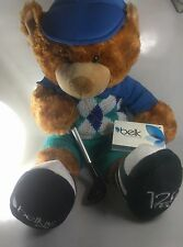 "BELKIE Plush Golf Bear Belk's 125th Anniversary NWT Approx 16"" Limited Edition"