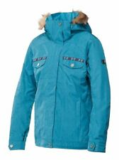 Roxy MISTI 10k Insulated Snowboard Jacket Blue Medium NEW