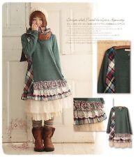 Kleid tunika lagenlook karo spitze retro impressionen shabby nadir nostalgie