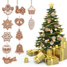 11X/Set Animal Snowflake Biscuits Christmas Decor Tree Ornaments Polymer Clay FT