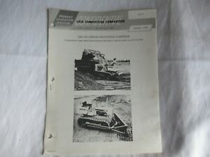 1965 Case 450 crawler tractor specification comparison brochure John Deere 450
