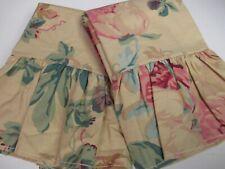Ralph Lauren Elsa Grasslands Cream Yellow Floral Ruffled 2 King Pillowcases