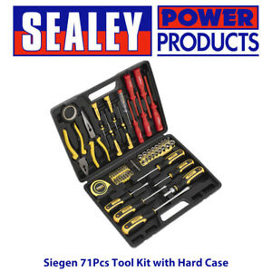 Sealey S0613 Siegen Tool Kit 71pc Hard Case for Garage Home Workshop DIY 5 BNIB