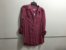 Express ladies size large button down new with tags  distressed look casual blou